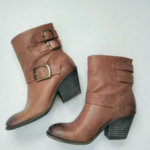Lucky brand distressed boots.